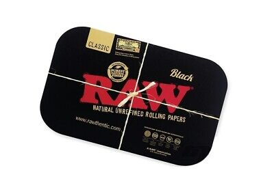 Raw Black Gold Magnetic Cover Lid for any Design Rolling Paper Tray that is 11X7