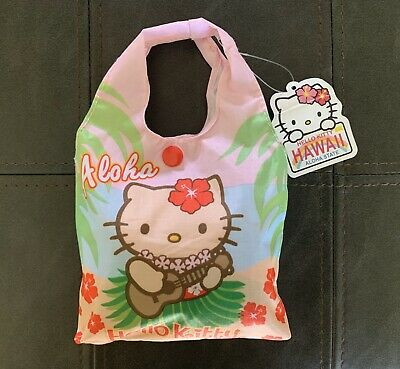 HELLO KITTY Hawaii Foldable Reusable Tote NWT