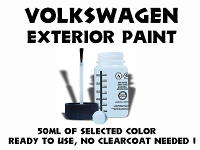 Volkswagen Do It Yourself Car Paint 50Ml Bottle For Touch Up, Most Colors
