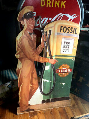 Antique Fossil Fuel - Gas - Petrolium Advertisement Display