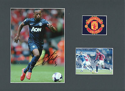 PATRICE EVRA Signed 10x8 Photo Display MANCHESTER UTD & FRANCE Legend COA