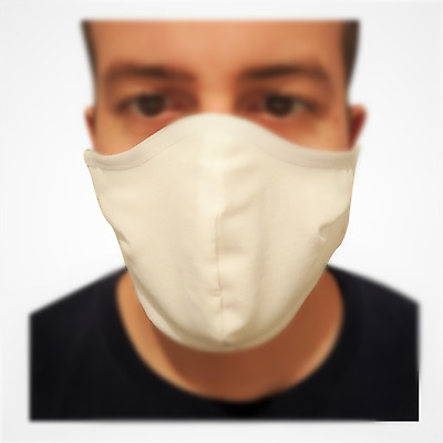 Multiple Layer Face mask - Washable/ Reusable (Non-Medical) White