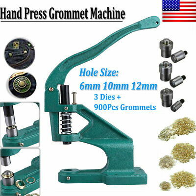 Hand Press Punch Machine for Press Studs Eyelets/Grommet Rivets Snap Popper US