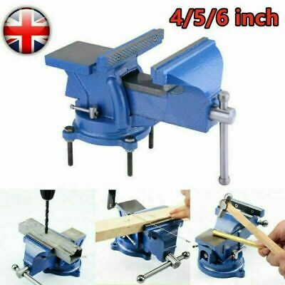 """4-6"""" Heavy Duty Engineers Vice Swivel Base Workshop Clamp Jaw Work Bench Table"""