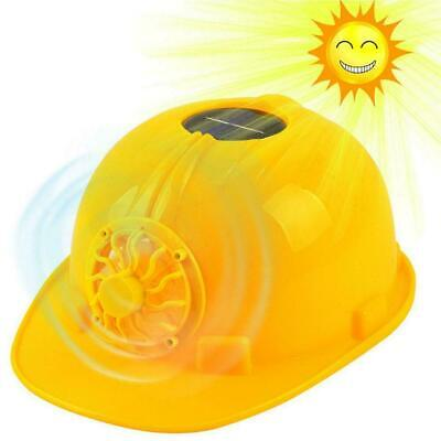 Construction Hard Hat Adjustbale Safety Helmet with Solar Powered Cooling Fan