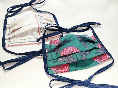 FREE SHIPPING Cotton Face Mask - Adjustable Face Covering - Ties & Pocket