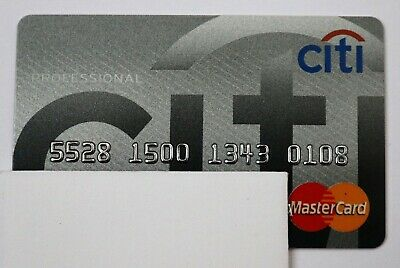 Expired in 02/09 Citi Bank Business Professional MasterCard Credit Card USA