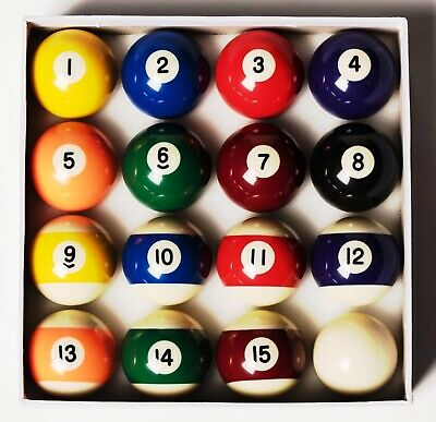 "Spots & Stripes Pool Balls , ex demo s/h 2"" Replacement Spares 50.7mm  Ex Demo"
