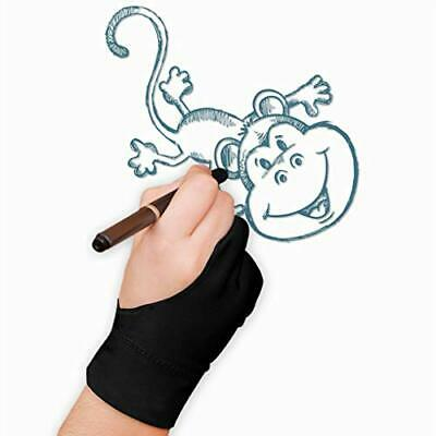 RUIXIB Artist Anti-Fouling Gloves Drawing Gloves with 2 Fingers Elastic Drawing