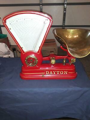 VINTAGE 1906 DAYTON 167 CANDY SCALE, TOBBACO, COFFEE RED 5lb