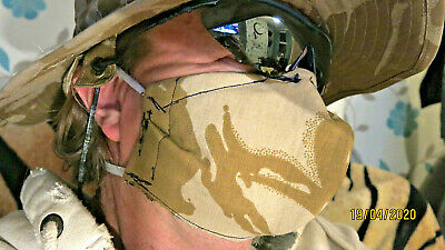 Washable Face Mask British Army Biological Warfare Carbon Soft Cloth Reuseable