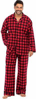 Alexander Del Rossa Family Christmas Pajama Sets - Red and Black - Size XL