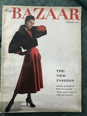 Harper's Bazaar magazine September 1947: the New Look