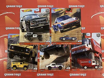 2020 Hot Wheels Car Culture Mix Q All Terrain 5 Car Set Bronco Porsche Camaro...