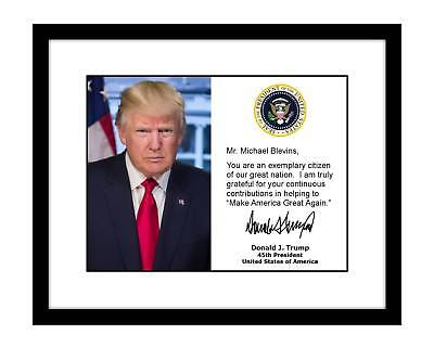 Personalized Donald Trump 8x10 Signed Official Photo YOUR NAME autographed