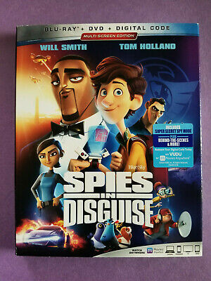NEW - Spies In Disguise (Blu-ray + DVD + Digital) Tom Holland / Will Smith