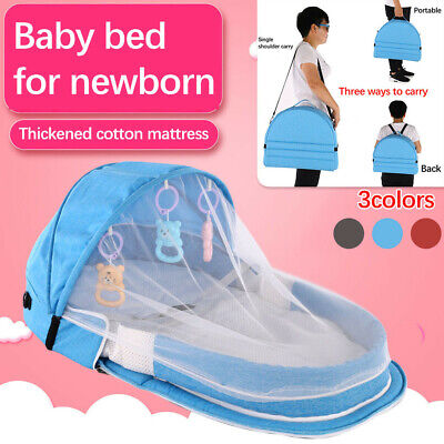 Fashion Travel Baby Bed Sunscreen Mosquito Net With Portable Crib Baby Folding