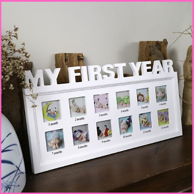 Photo Frame Creative DIY My First Year Baby Pictures Display Plastic Memory Gift