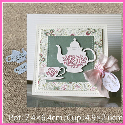 Metal Cutting Dies Teapots Embossing Paper Cards Making Scrapbook Album Stencils