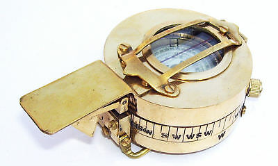 Antique Nautical Brass Military Compass Vintage Collectible Decor gift items