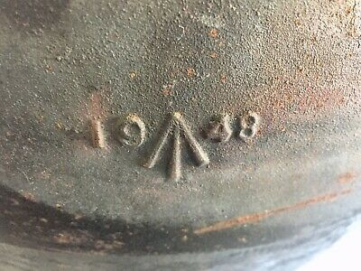 BROAD ARROW MARKED 1948 CAST IRON HILL TOP 3 Gallon COOKING POT MILITARIA