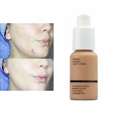 Soft Matte Full Coverage Liquid Foundation Concealer Longlasting SP