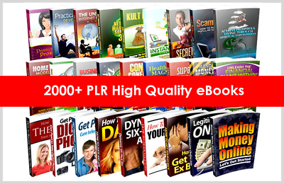 2000 Ebooks Collection with Master Resell Rights PDF 6GB Package