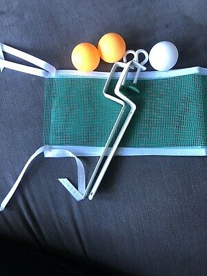 Table Tennis Net With Clamps & Ping Pong Balls New