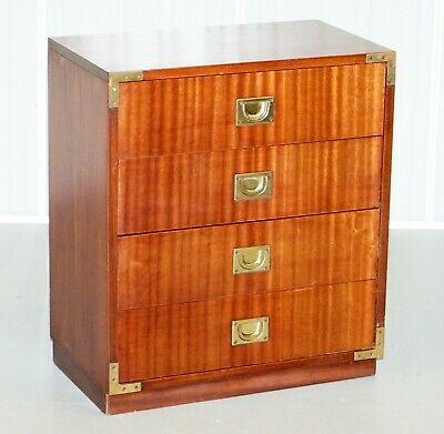 Lovely Military Campaign Style Large Lamp Side End Table Sized Chest Of Drawers