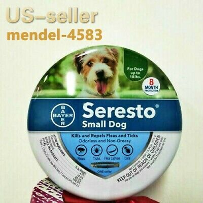 Bayer Seresto Flea and Tick Collar for Small Dog Up to 18 lbs,8 Month Protection