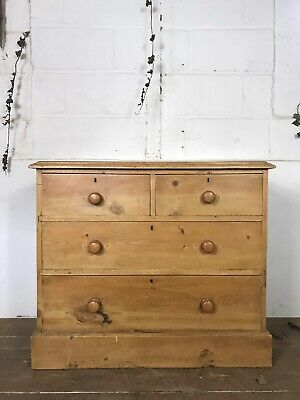 Antique Victorian Pine Farmhouse Chest Of Drawers C.1880