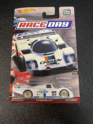 Hot Wheels Porsche 962 Race Day 1//64 White; Real Riders; Metal Chassis NEW