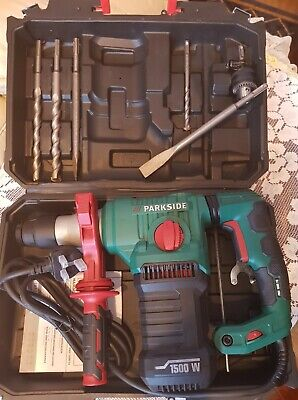 Parkside 1500W Hammer Drill PBH 1500 F6 + Carry Case & Accessories