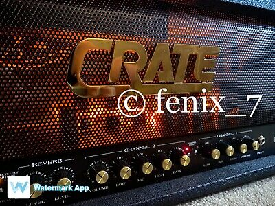 USA | Crate Blue Voodoo BV120H 100W 2-Channel REVERB Effects Loop TUBE Amp HEAD
