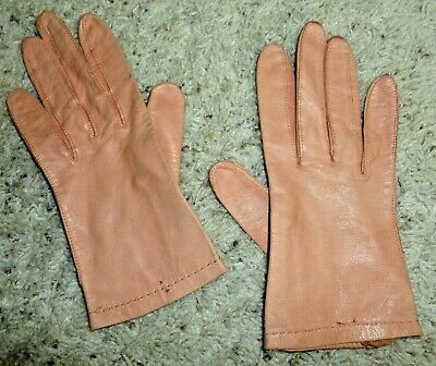Vintage Pink Leather Gloves by Superb Women's Size 6 1/4 So Soft