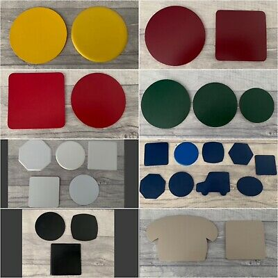 Quality Bonded Leather Coasters, Various Shapes/Colours, Promotional, Hot Foil