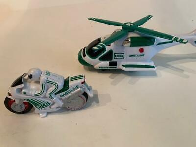 Hess Gasoline Company collectable toys: Helicopter &  Motorcycle