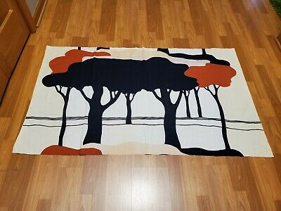 Awesome RARE Vintage Mid Century retro 70s Tampella Apia tree forest fabric! WOW
