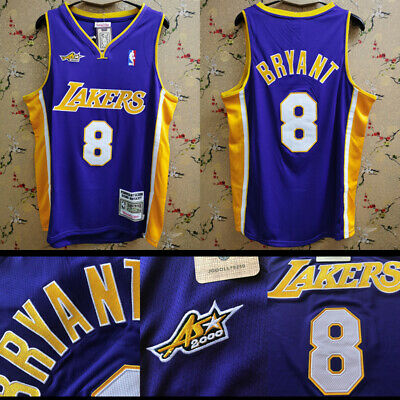 2000 All Star Game #8 Kobe Bryant Stitch Los Angeles Lakers Jersey All-Star