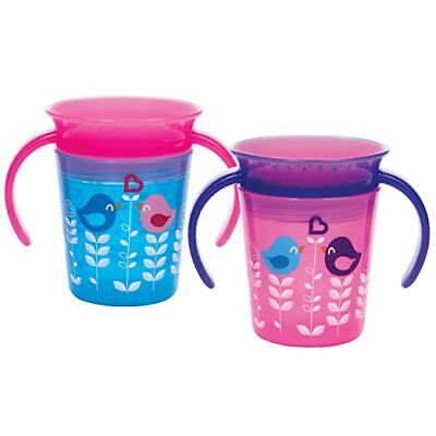 Munchkin Miracle 360 Trainer Cup 6 oz., 2 Count, Choose Colors