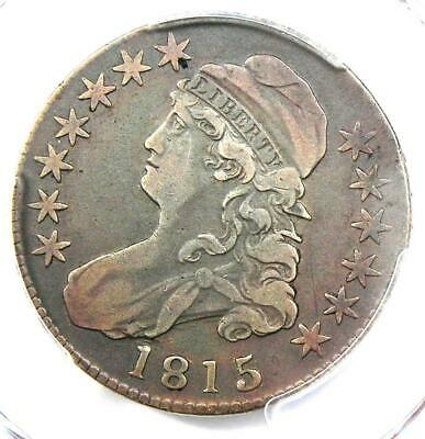 1815/2 Capped Bust Half Dollar 50C - PCGS VF Details - Rare Overdate Coin!