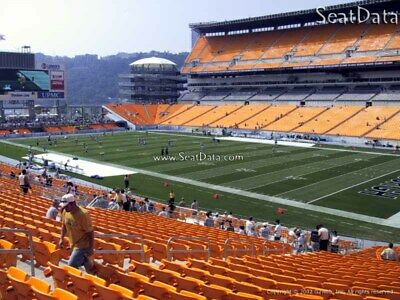 (2) Steelers vs Broncos Tickets Lower Level Section 217 row P!!