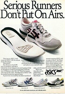 1990 Print Ad of Asics GT-Xpress GEL-110 Runner 90 Shoes don't put on airs