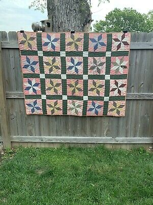 Great Antique Stars Quilt Hand Sewn