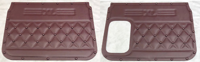 Freightliner Classic XL, FLD Door Panel Set,..Maroon with Buttons