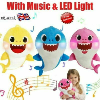 2020 Baby Shark Plush Singing Toys LED Music Doll English Song For Toy Kids Gift