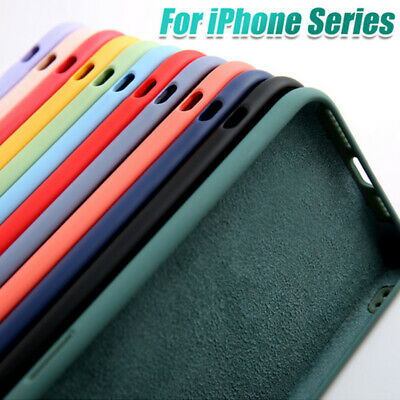 New Liquid Silicone Case For iPhone 11 Pro Max XS X XR 8 7 6 Plus 6s Plain Cover