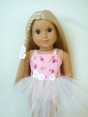 American Girl Our Generation Pink Daisy Tutu Daisy Hair Clip18 Inch Doll Clothes