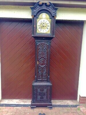 19th Century impressive oak longcase clock