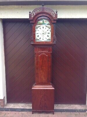 19th Century Impressive  Mahogany  longcase grandfather clock